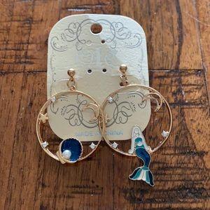 3/$10 NWT mermaid hoop earrings